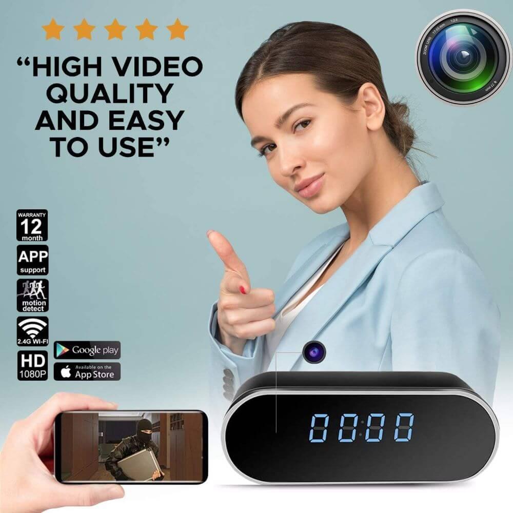 spy camera clock night vision